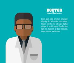 Doctor icon. Medical and Health care design. Vector graphic Stock Illustration