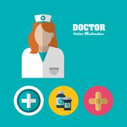 Doctor icon. Medical and Health care design. Vector graphic - stock illustration
