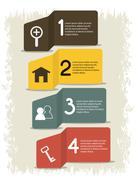 Infographics icon. Retro design. Vector graphic - stock illustration