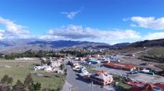 Resorts at Lake Quilotoa Stock Footage