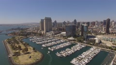 Aerial Down Town, San Diego Bay California Stock Footage