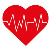 Heart with cardiogram icon Stock Illustration