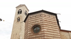Church of San Francesco (Saint Francis) in Brescia Stock Footage
