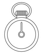 Analog chronometer icon Stock Illustration