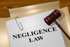 Negligence Law legal concept Stock Illustration
