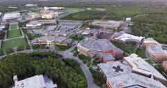 Aerial of Campus at the University Of Central Florida Stock Footage