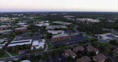 Aerial of Buildings at the University Of Central Florida Stock Footage