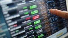 Financial analysis - stock footage