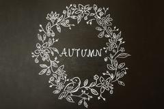 White autumn pattern Kuvituskuvat