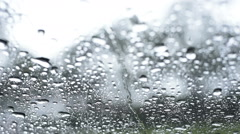 rain or water drops on a window glass - stock footage