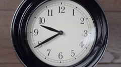 Clock on the wall. Timelapse - stock footage