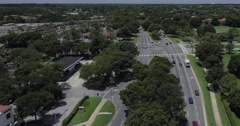 MetroWest Aerial Over Street Stock Footage