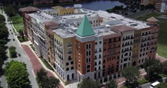 MetroWest Aerial Of Building Stock Footage