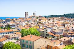 The old city of Antibes, French Riviera - stock photo