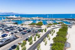Yachts in the port of Antibes, French Riviera - stock photo