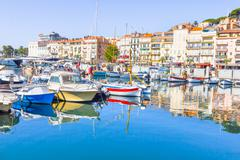 View of the old port of Cannes, France Stock Photos