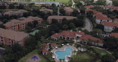 MetroWest Aerial Of House With Pool Stock Footage