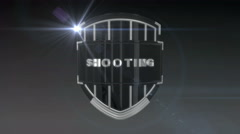 Shooting - Chrome Stock Footage