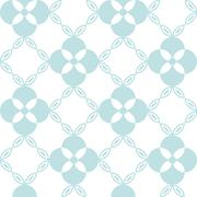 Seamless pattern. Classical geometrical texture, symmetrical flower and chain Stock Illustration