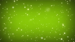 Swirly Particle Motion Background Loop Green Bright Stock Footage
