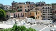 Rome Italy 17 June 2016. Part of equipment used for Spanish Steps restoration. Stock Footage