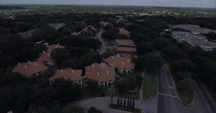 MetroWest Aerial Of Houses Stock Footage