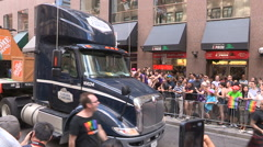 Toronto gay pride parade 2016 in downtown - stock footage