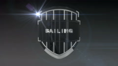 Sailing - Chrome Stock Footage