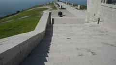Military Shrine of Monte Grappa, Italy Stock Footage