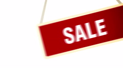 Swinging Sale Red Banner. Stock Footage