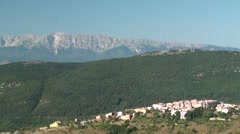 Apennines of sirente, vision in the morning from the fortress calascio Stock Footage