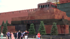 Lenin's Mausoleum. Red Square, Moscow. - stock footage