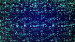 Abstract Blue Technology Background. Binary Computer Code. Stock Footage