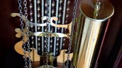 Wall Clocks and Pendulum Stock Footage