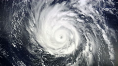 Giant hurricane seen from the space Stock Footage