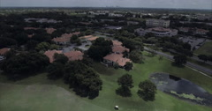 MetroWest Aerial Of Golf Course Stock Footage