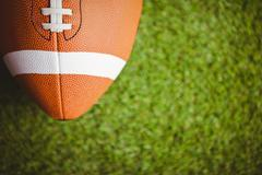 Close up of rugby ball - stock photo