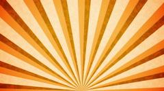 Orange Sun burst retro background design Stock Footage