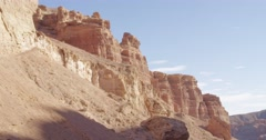 Charyn (Timerlik) Canyon. - stock footage