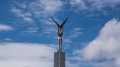 Glory monument in Samara Russia Stock Footage