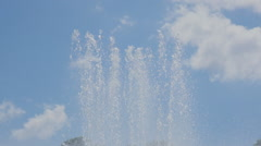 Fountain in Mission Bay, Auckland, New Zealand Stock Footage