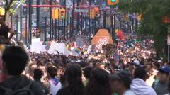 Toronto gay pride parade 2016 in downtown Stock Footage