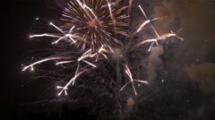 Amazing fireworks Stock Footage