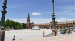 Plaza De Espana, Seville, time lapse of square Stock Footage