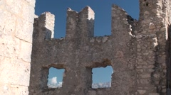 Rock of calascio, medieval fortress in the National Park of Gran Sasso, Abruzzo Stock Footage
