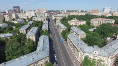 Aerial Moscow District Buildings and houses Cityscape Stock Footage