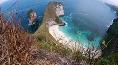 Dream Bali Manta Point Diving place at Nusa Penida island Stock Footage