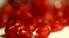 Pomegranate Seeds Stock Footage