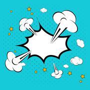 Speech bubble in pop-art style vector illustration Stock Illustration