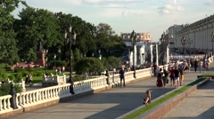 Manege Square in Moscow. 4K. Stock Footage